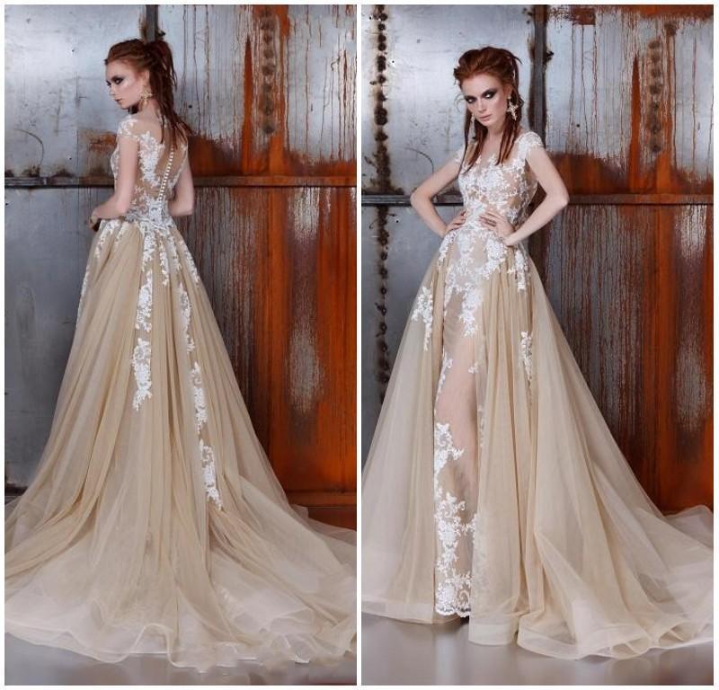 Wedding Gown With Detachable Train: Wedding Gown Detachable Train