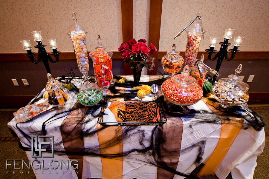 halloween candy buffet wedding