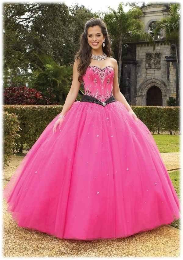 Hot Pink Wedding Photos : Hot pink wedding dress