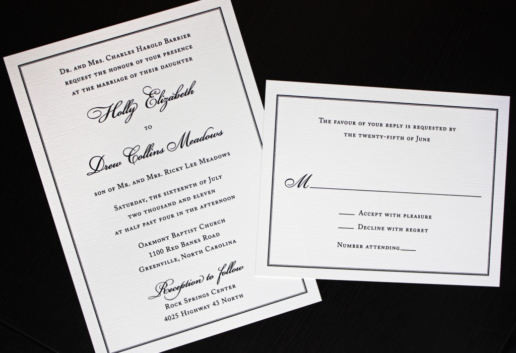 Traditional Wedding Invitations – Wedding Invitations Traditional Designs