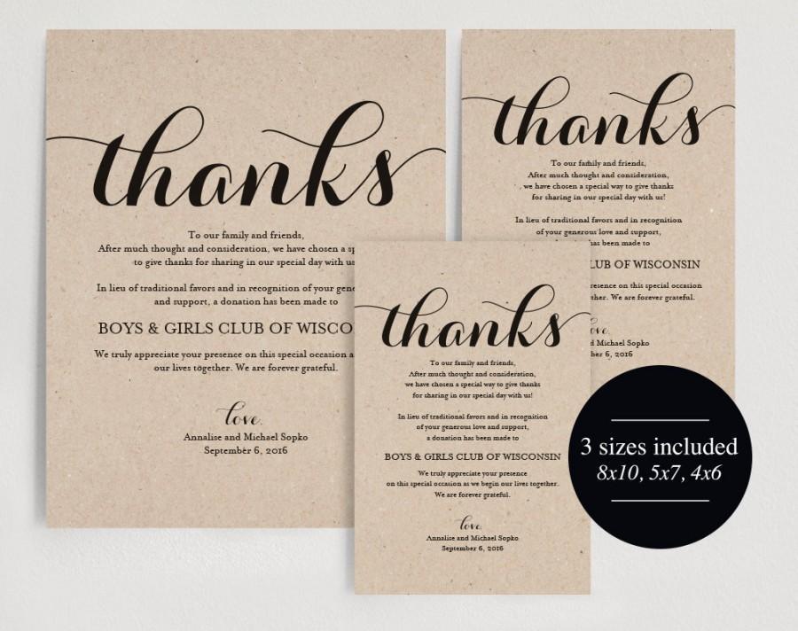 Charity Wedding Favors