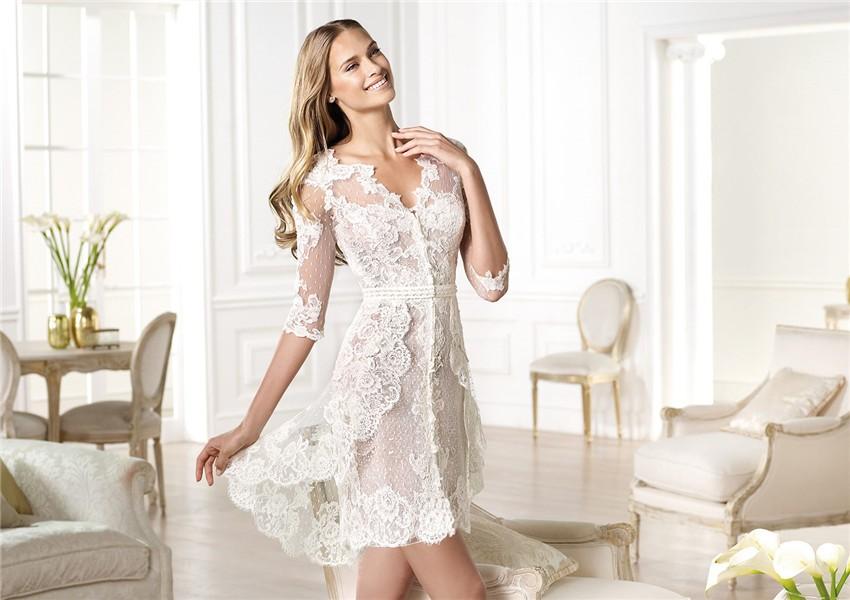 Informal Short Wedding Dress - Short Casual Wedding Dress