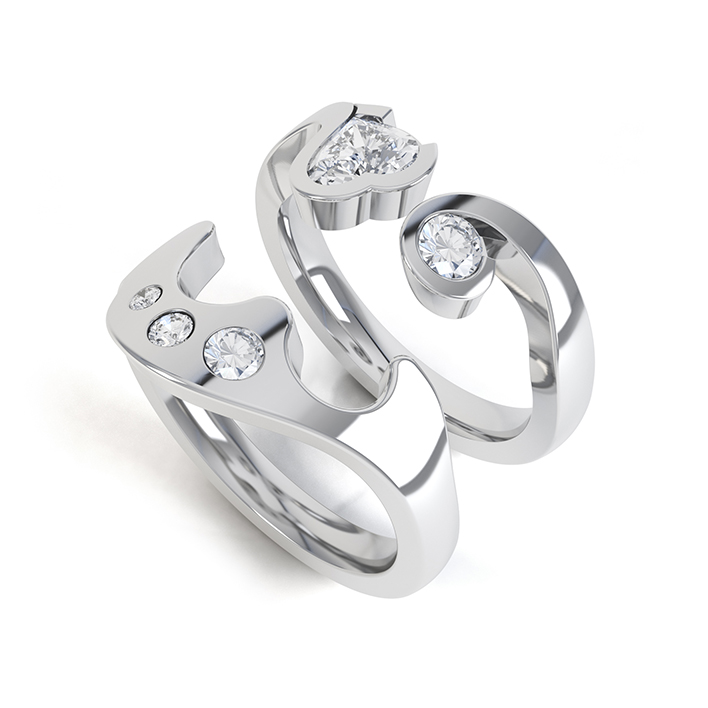 Interlocking Diamond Rings