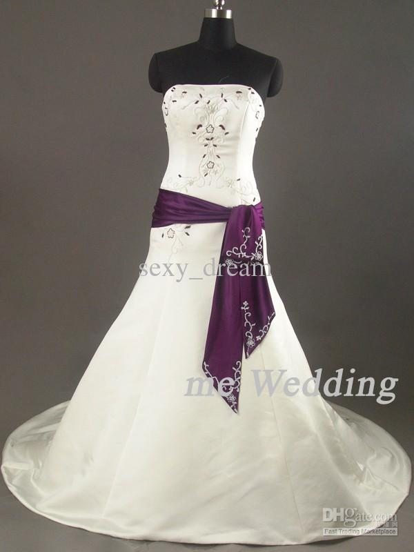 Cream And Purple Wedding Dresses Weddings Dresses