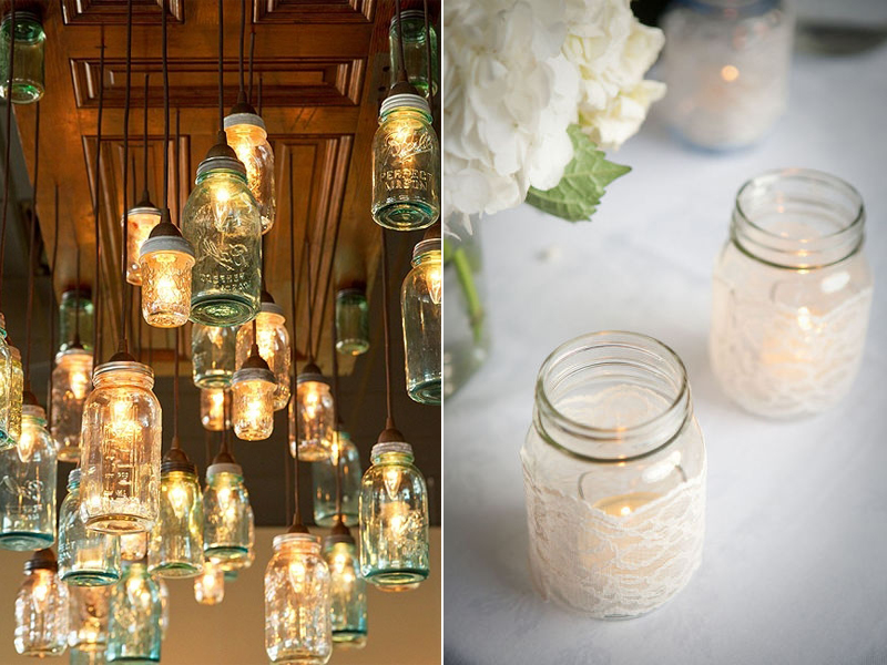 mason jar decorations for weddings wedding jars 5730
