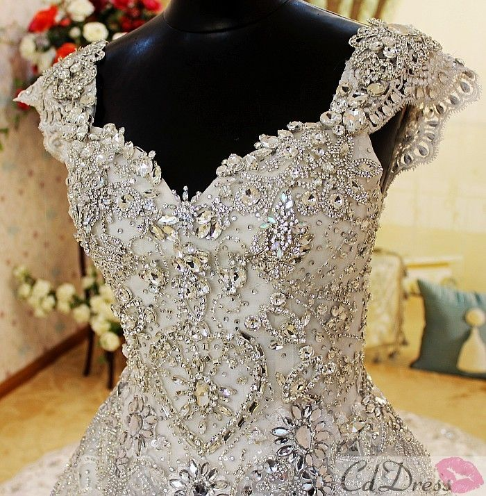 Jeweled Wedding Dresses Cap Sleeves And My Style On Emasscraft Org