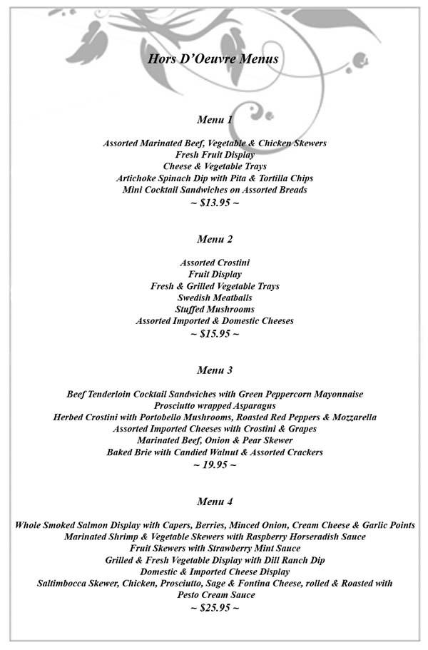 Kc J Catering Wedding Menus Kansas Call Jeff At 913 961
