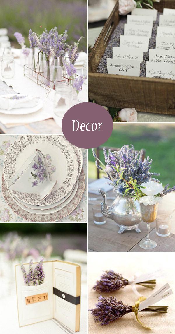 Lavender Wedding Decoration Ideas