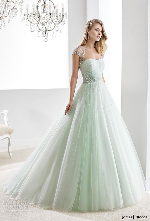 Light Green Wedding Dress
