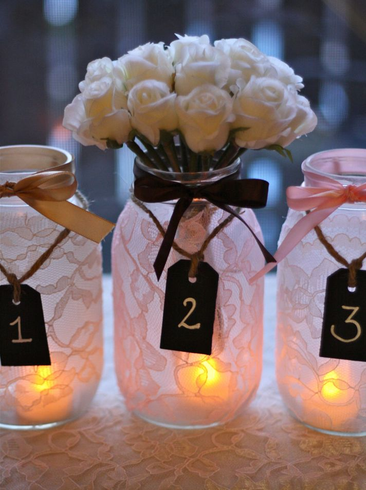 Mason Jar Centerpieces For Wedding Reception