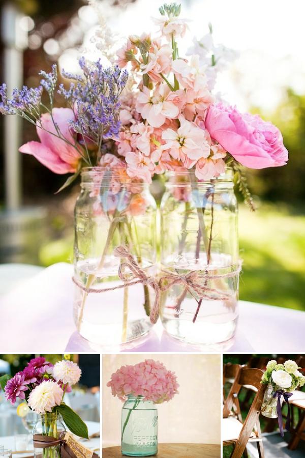 mason jars for weddings. Black Bedroom Furniture Sets. Home Design Ideas