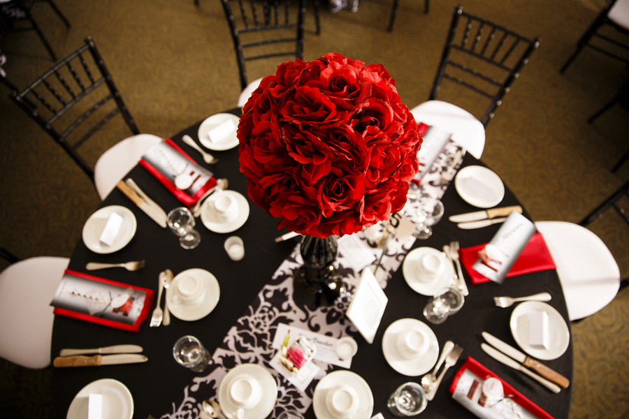 Matthew Sarah S Red Black And White Wedding
