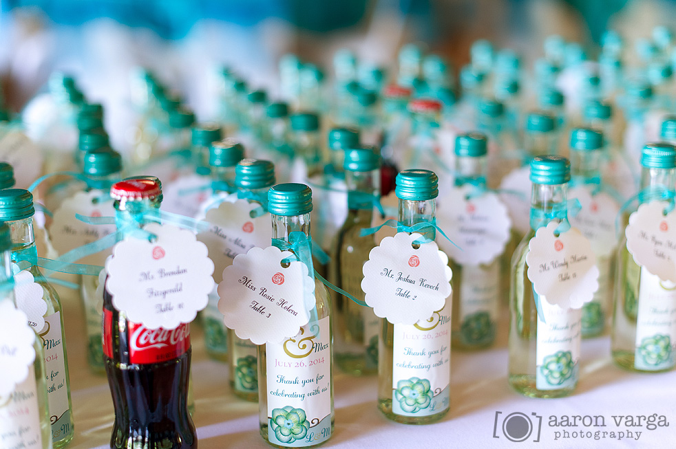 Bottle Of Wine Wedding Favors
