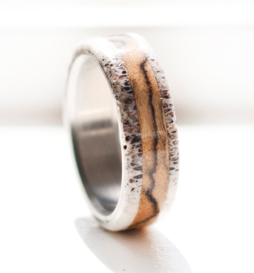 deer antler mens wedding band Wedding Decor Ideas
