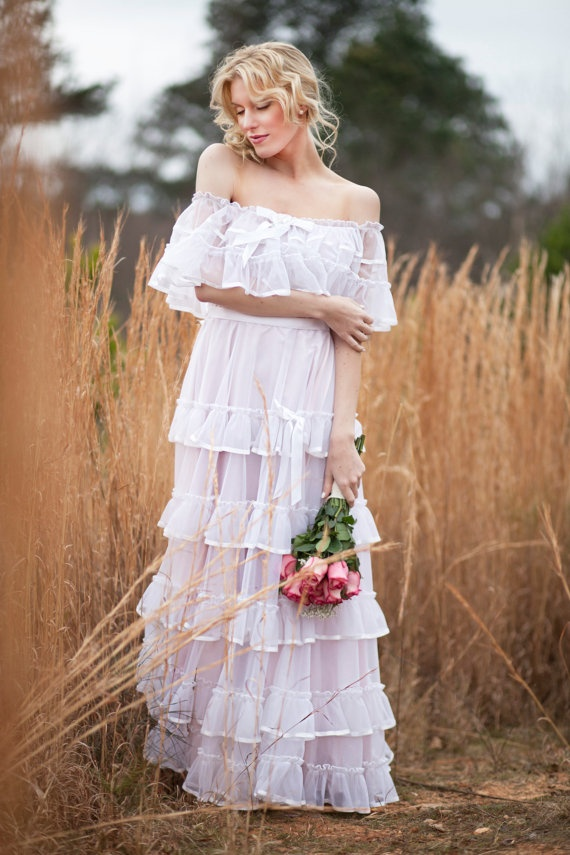 Peasant Style Wedding Dress