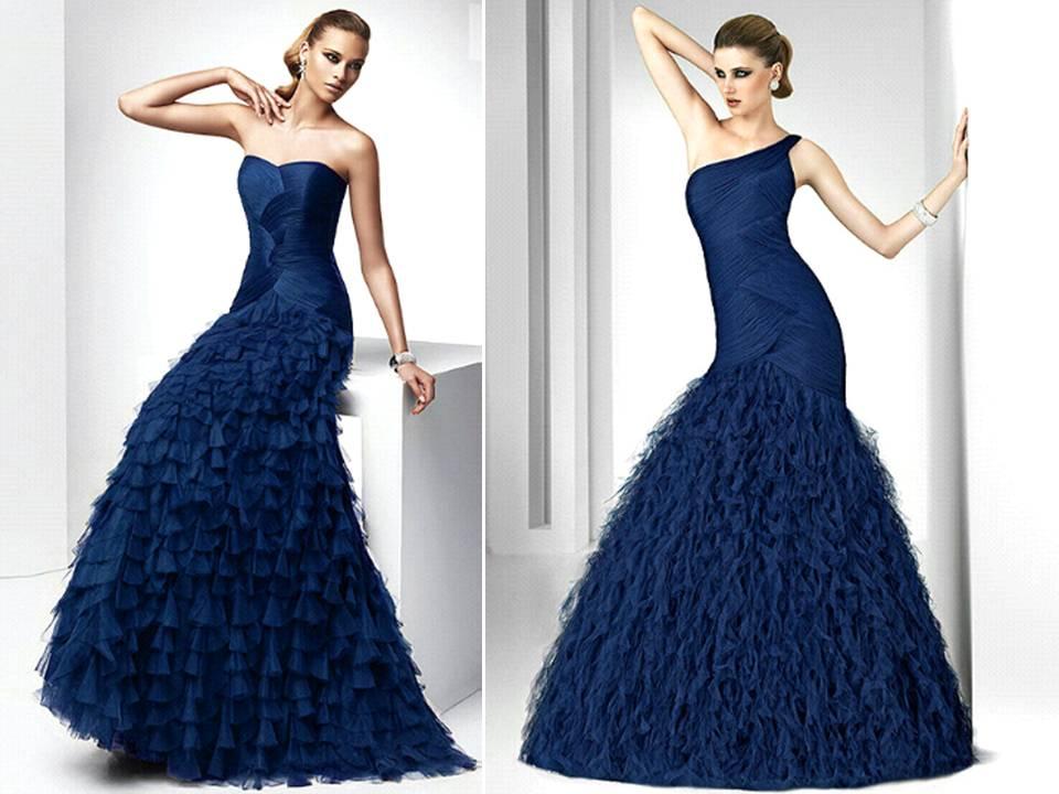 Blue Wedding Gowns: Midnight Blue Wedding Dress