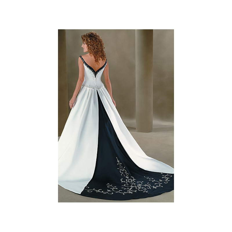 Wedding Dress White And Blue: Navy Blue And White Wedding Dress