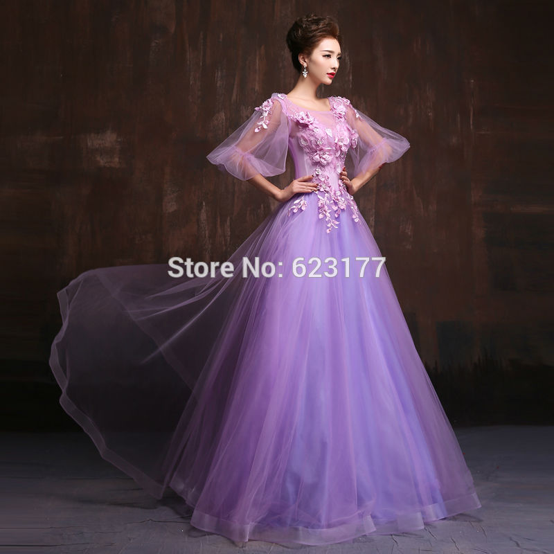 new_formal_dress_2016_cute_purple_chiffon_ball_gown_half_sleeve_8.jpg