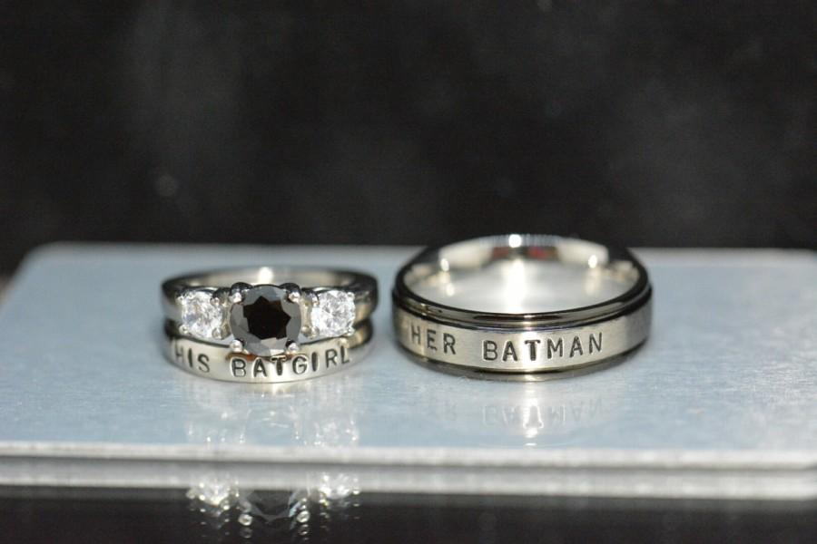 Batman Wedding Rings