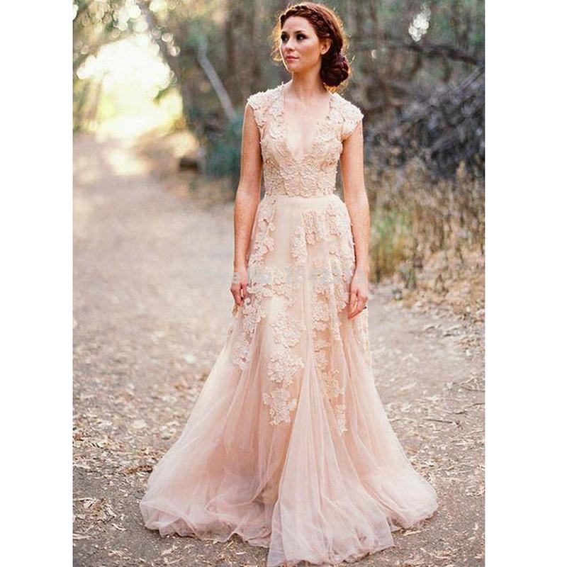 Online Get Cheap Blush Wedding Dress