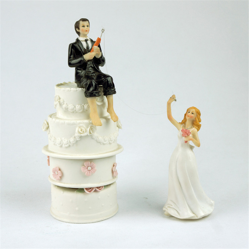 Online Get Cheap Fishing Wedding Cake Toppers