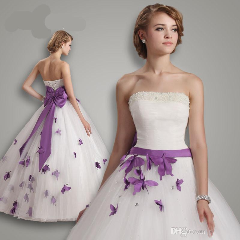 White and purple wedding dress online get cheap purple white wedding dress junglespirit Image collections