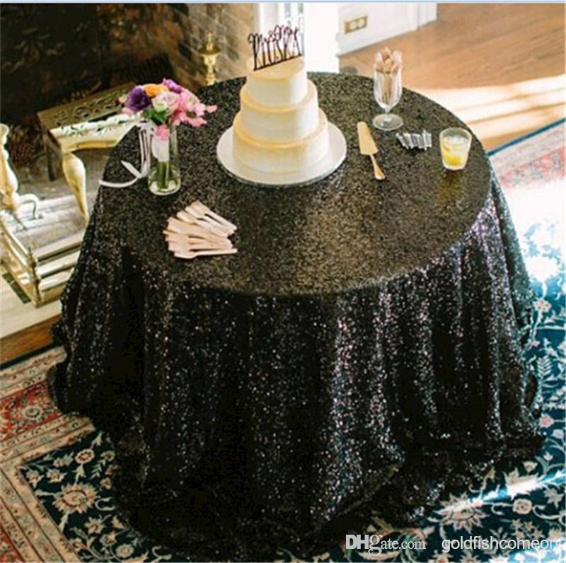 Online Get Cheap Round Black Tablecloth