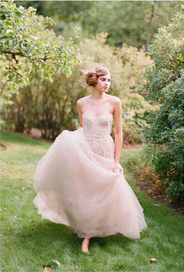 Pale Pink Wedding Dress Uk