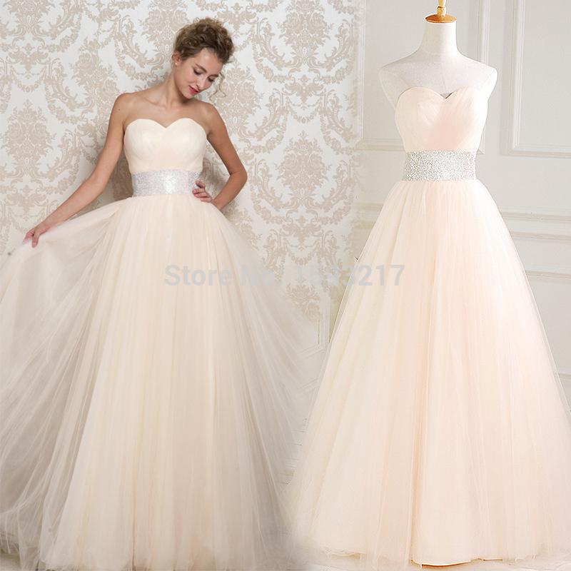 Peach Wedding Dresses W0056