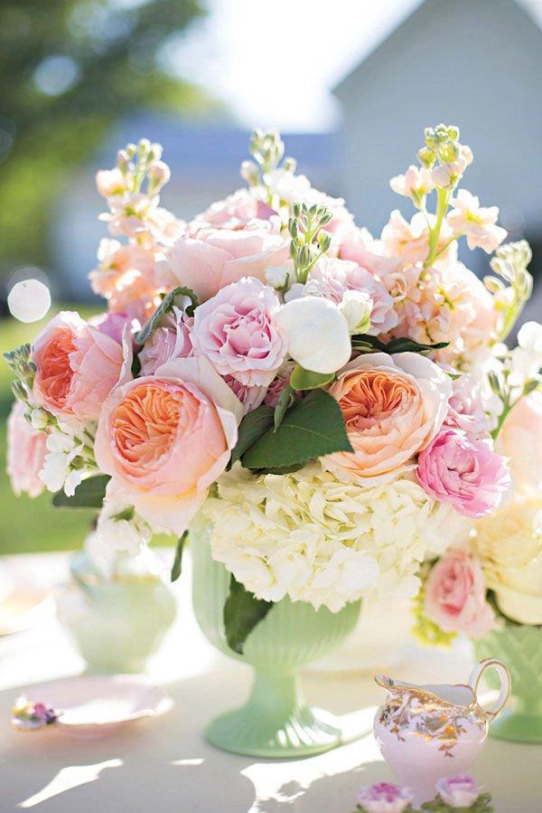 Peony Wedding Table Flowers