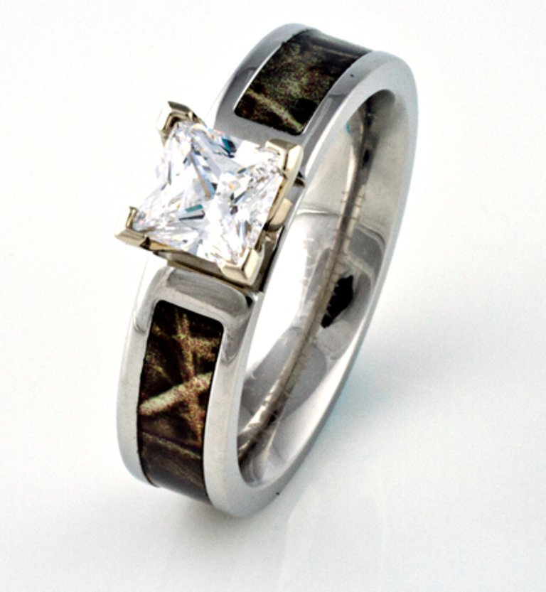 camo wedding rings with real diamonds - Camo Wedding Rings With Real Diamonds
