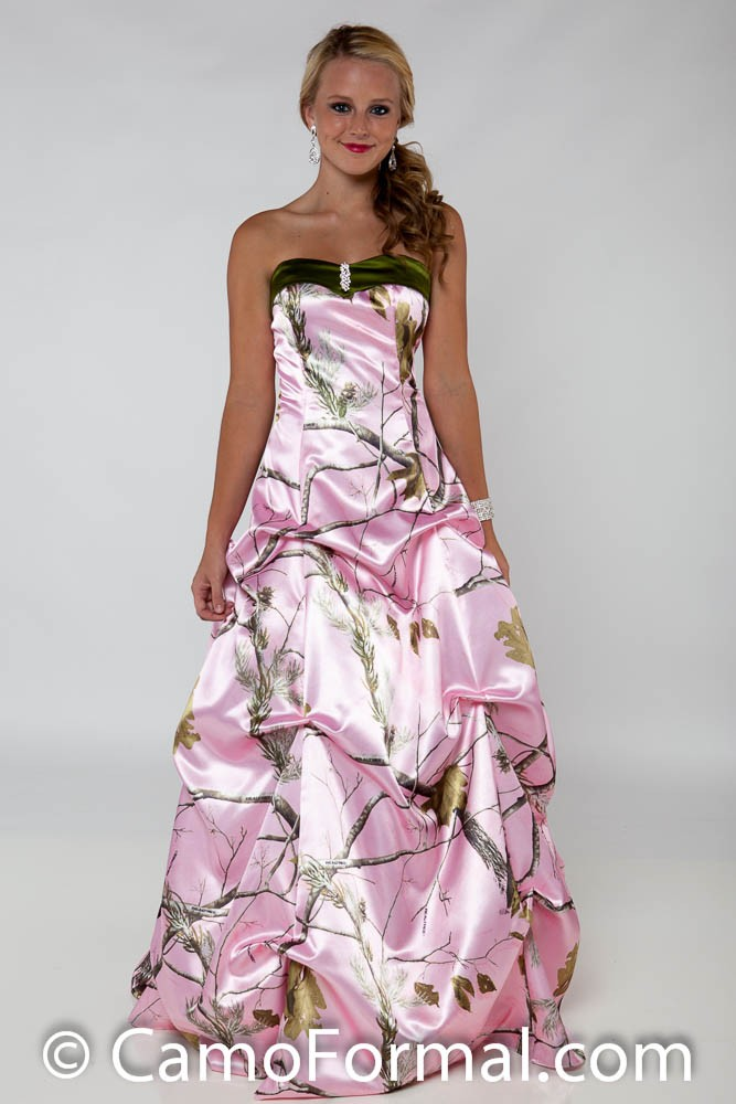 pink camo wedding dress