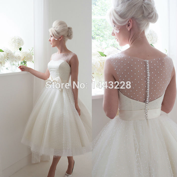 Polka Dot Wedding Gown Retro 1950s Style Bridal Gown – Emasscraft.org