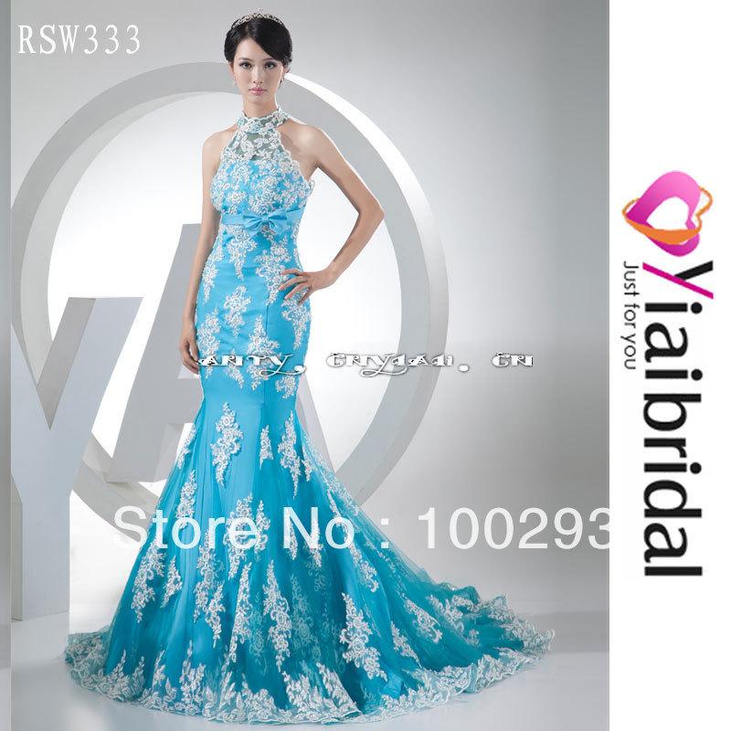 Blue And White Wedding: White And Blue Wedding Dress