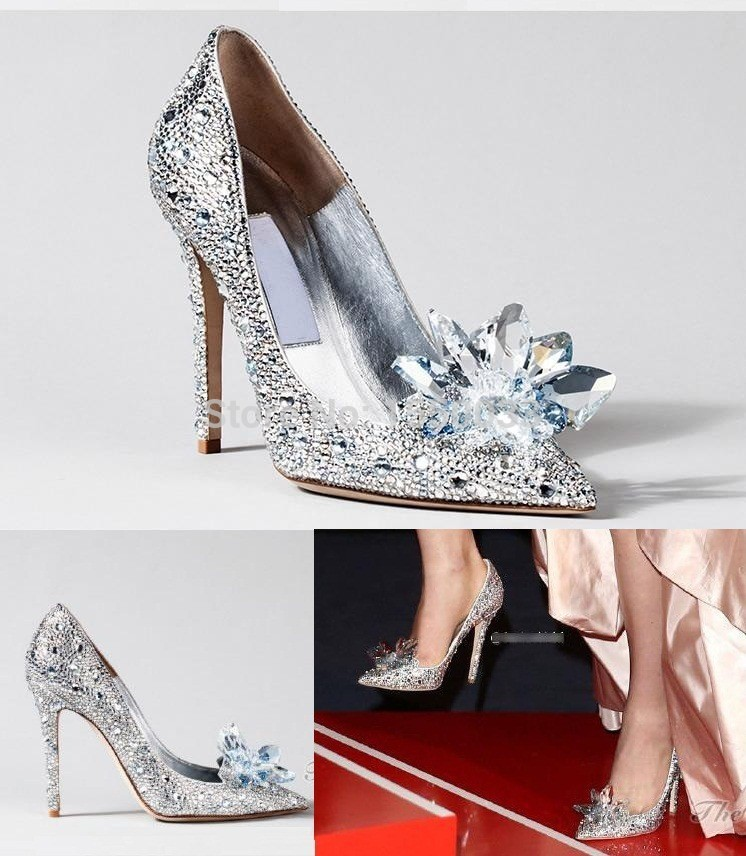 Cinderella Glass Slipper Wedding Shoes