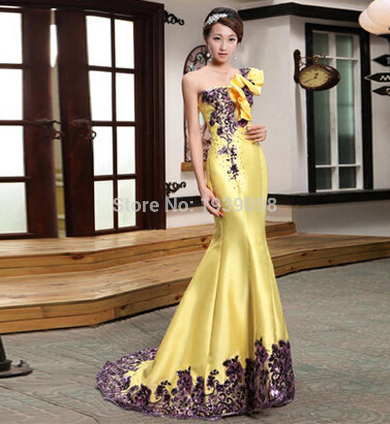 Evening Wedding: Yellow Evening Gowns Wedding
