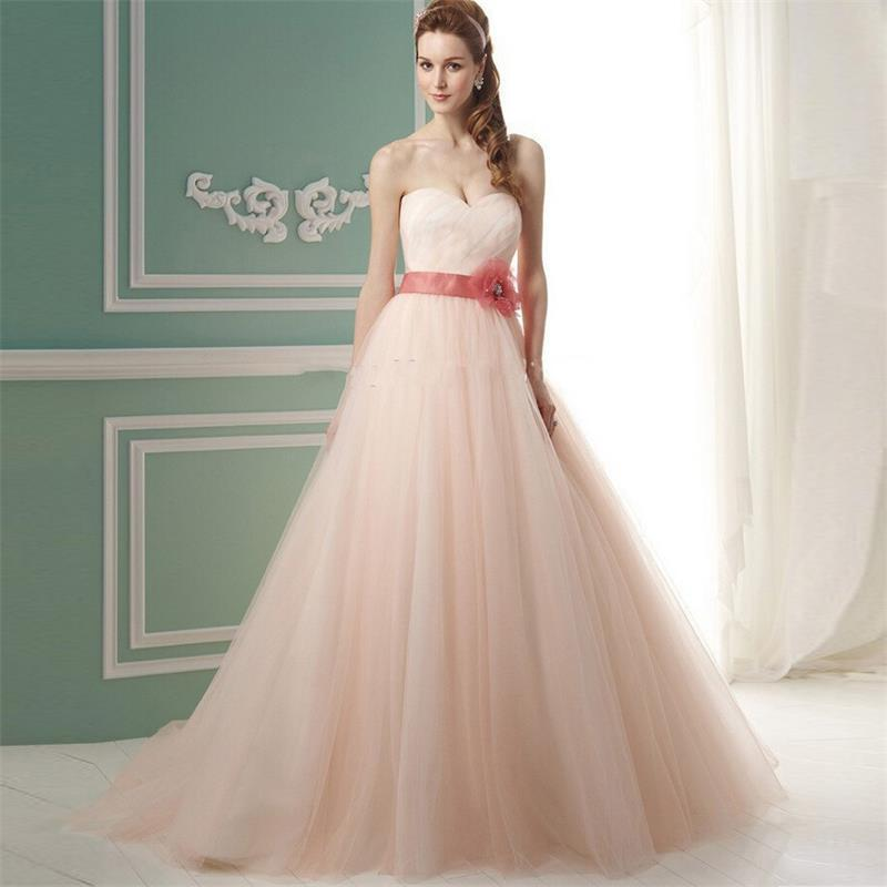 Light peach wedding dress wedding peach wedding dress junglespirit Choice Image