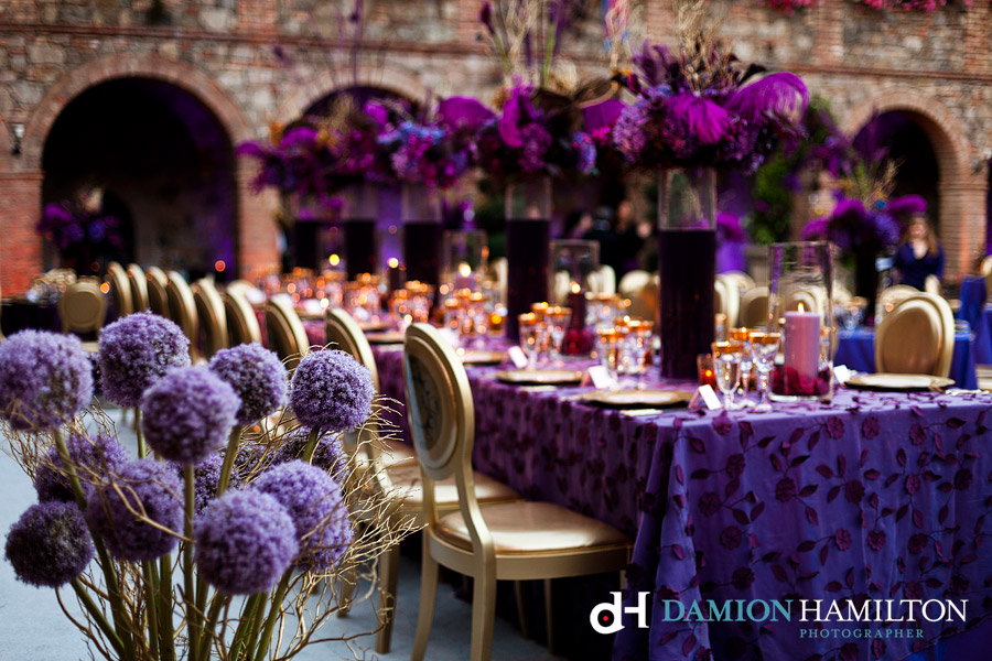 Purple Ideas For Weddings: Purple And Gold Wedding Decor