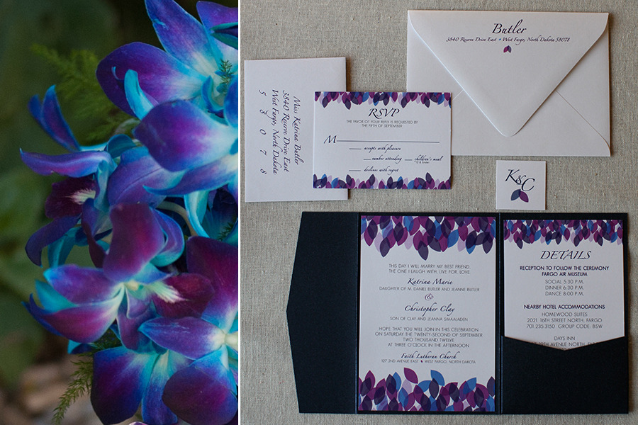 Wedding Invitations Turquoise: Purple And Turquoise Wedding