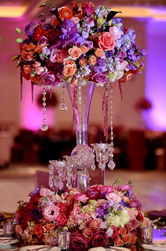 Marvellous Red And Purple Wedding Table Settings Ideas - Best Image ...