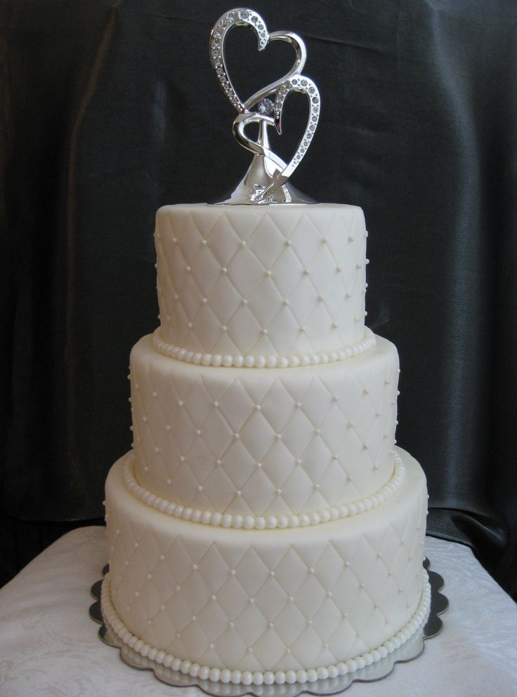 Diamond Pattern Wedding Cake