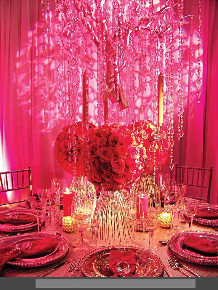 Red rose decorations weddings recently most demanding red pink wedding decoration ideas junglespirit Images