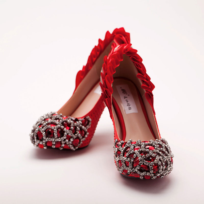Red Wedding Shoes For Bride