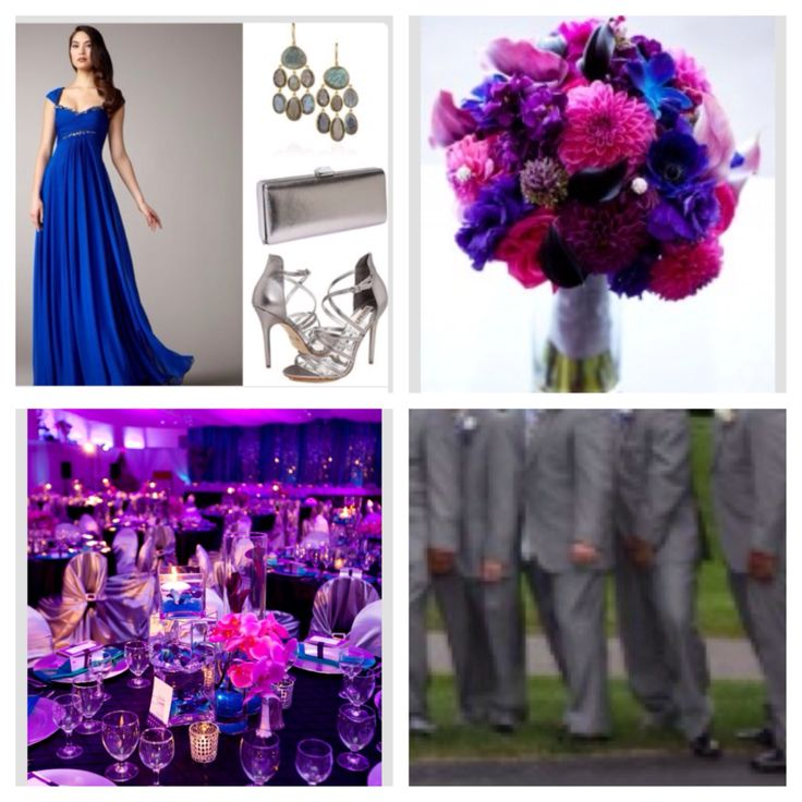 Royal Blue And Purple Wedding Colors Concept