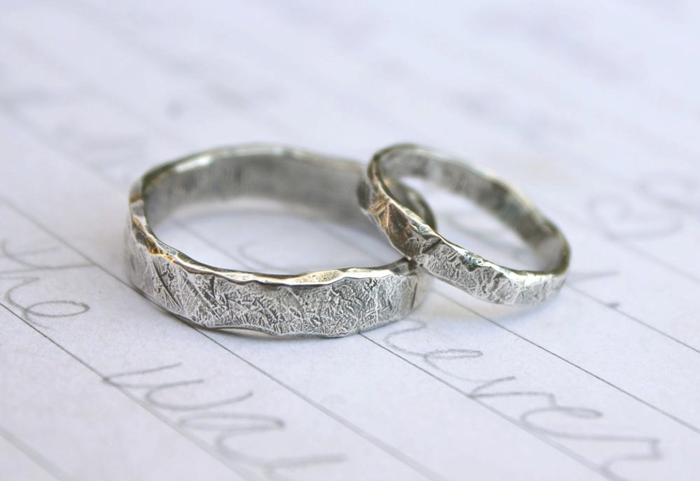 country wedding ring sets rustic wedding rings 3133