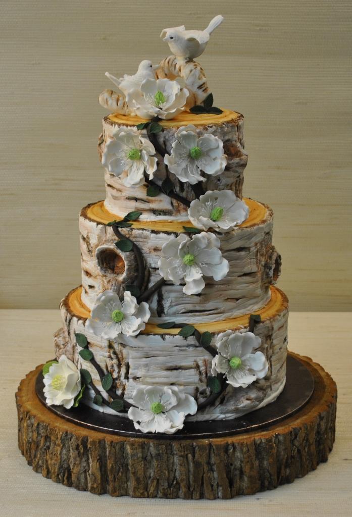 Rustic Tree Wedding Cake - Wedding Cake Tree Bark