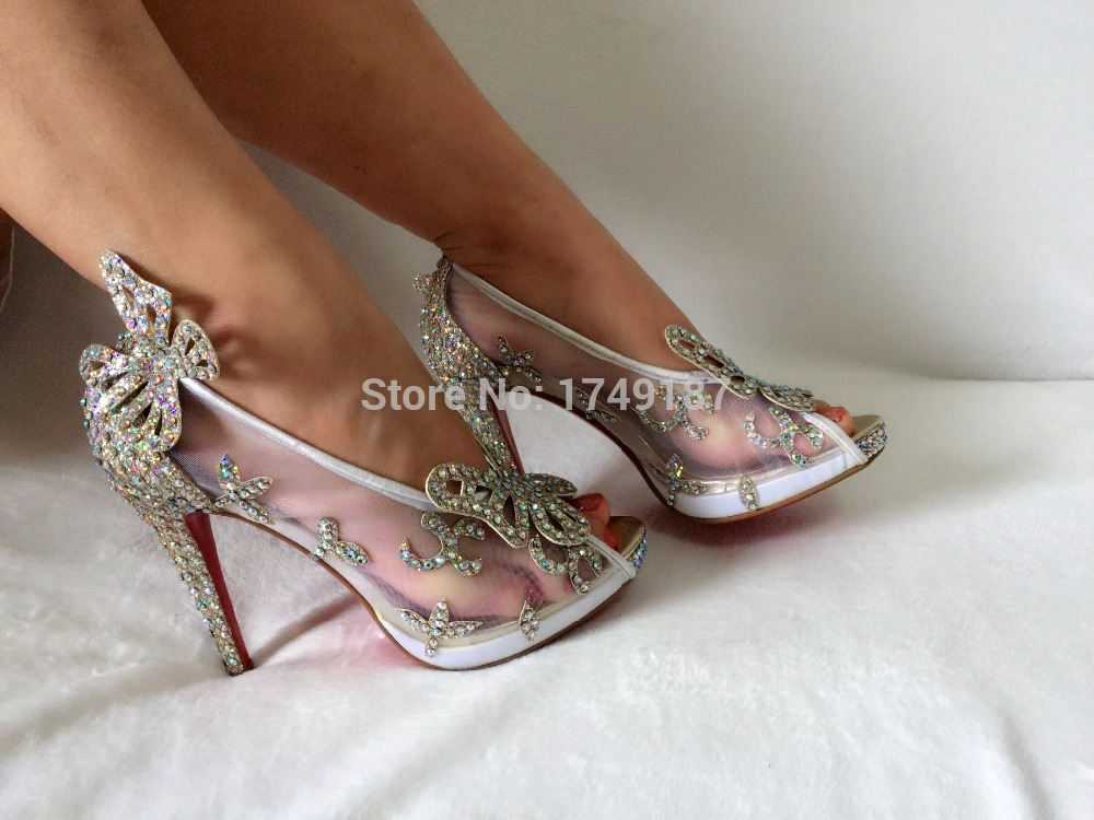 Sandal Wedding Shoes Picture 2016 Hot Cinderella High Heels