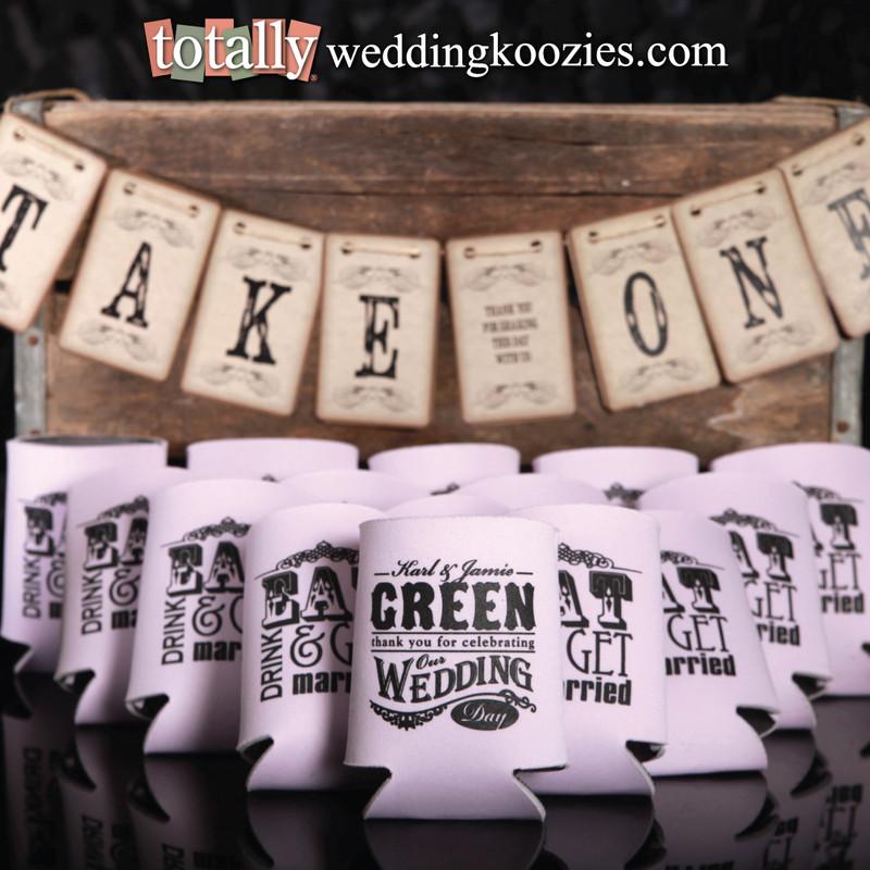 Custom Wedding Koozies Captivating Koozie Favors