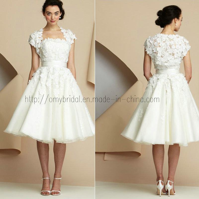 Short Sleeve Simple Wedding Dress: Short Vintage Wedding Dress