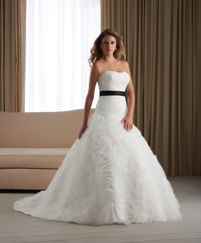 wedding dress with black. Black Bedroom Furniture Sets. Home Design Ideas